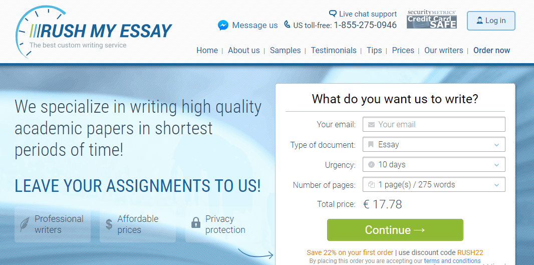 rushmyessay review