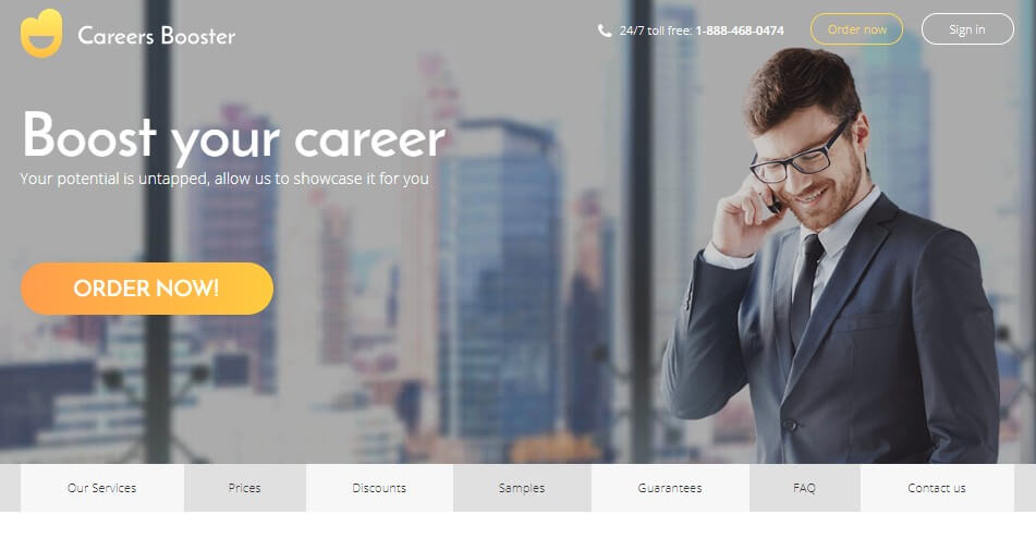 careersbooster, resume writing service